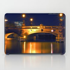 Nocturnal Lights on the river Spree in Berlin iPad Case