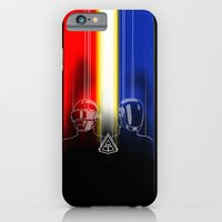 iPhone & iPod Case featuring Daft Punk: The Daft Frontier by JoPruDuction Art