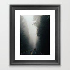 Dark Forest Driving Framed Art Print
