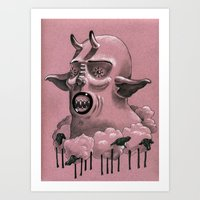.Sheep.Neck. Art Print