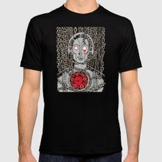 METROPOLIS SMALL Black Mens Fitted Tee