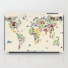 Animal Map of the World iPad Case