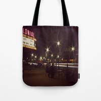 Small Town, Fast Lights Tote Bag