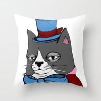 Dignified Cat Throw Pillow