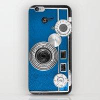 Dazzel blue Retro camera iPhone & iPod Skin