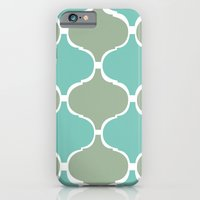 iPhone & iPod Case featuring Marrakech Pattern Sea Green by Stickycake Studio