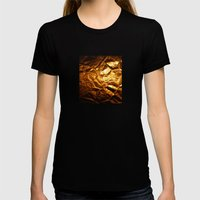 Golden Wrapper Womens Fitted Tee Black SMALL