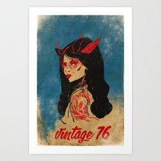 vintage 76 (wicked) Art Print