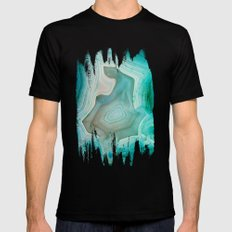 THE BEAUTY OF MINERALS 2 SMALL Mens Fitted Tee Black