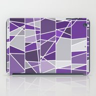 Purple And Grey iPad Case