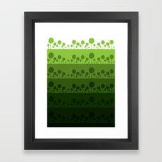 Green palette ultimate Framed Art Print