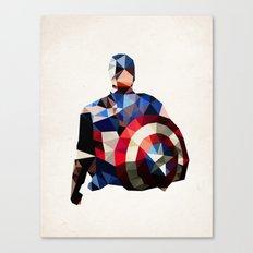 Polygon Heroes - Captain America Canvas Print
