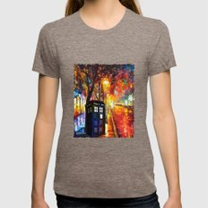 Tardis Full Color Womens Fitted Tee Tri-Coffee SMALL