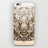 The White Tiger (Gold Ve… iPhone & iPod Skin