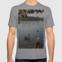 Swans In Autumn Mens Fitted Tee Athletic Grey SMALL