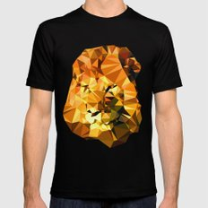 Atayah's Lion SMALL Black Mens Fitted Tee