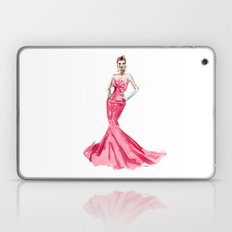 Sabrina / Hepburn Fuschia Pink Red | Fashion Gown Dress Laptop & iPad Skin