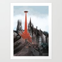 Bloody tomorrows Art Print