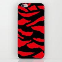 Red Zebra Print iPhone & iPod Skin
