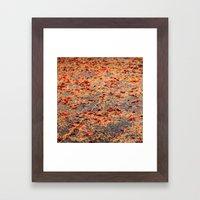 Red Fall Framed Art Print