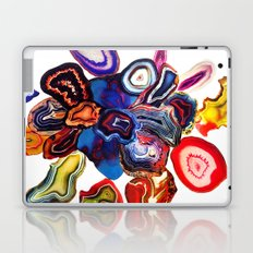 Semi-Precious Agate Burst, Earth's Core Flowers Laptop & iPad Skin