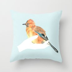 a friend in my hand - 2 Throw Pillow