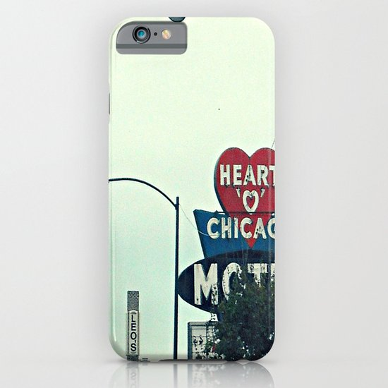 Heart 'O' Chicago Motel (Day) ~ vintage neon sign iPhone & iPod Case