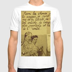 French Graffiti in Paris Mens Fitted Tee White SMALL
