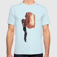 What's Lasagna Got To Do With It Mens Fitted Tee Light Blue SMALL