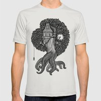 Octotree Mens Fitted Tee Silver SMALL