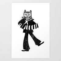 Sailor Jack the Cat Art Print