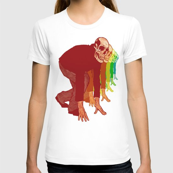 The Racing Rainbow Skulls T-shirt