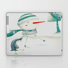 Snowman and friend Laptop & iPad Skin