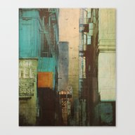 Canvas Print featuring ESCAPE ROUTE by Liz Brizzi