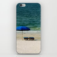Beach Umbrella Trio iPhone & iPod Skin
