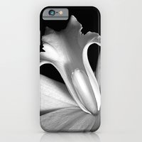 Black And White Orchid  iPhone 6 Slim Case