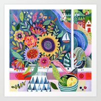 Bouquet By The Bay Art Print