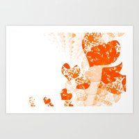 Heart - Orange Art Print