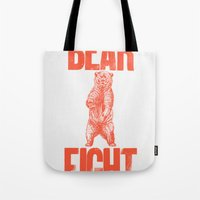 Bear Fight Tote Bag
