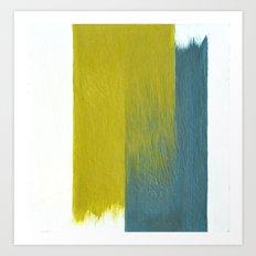 clashing brushstrokes Art Print