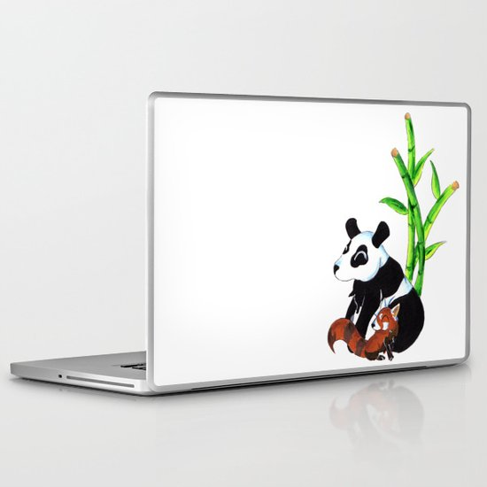 Panda Duo Laptop & iPad Skin