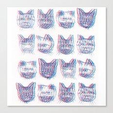 Trippy Cats Canvas Print