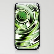 Abstract Circle Green iPhone & iPod Skin