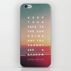 Face to the Sunshine iPhone & iPod Skin