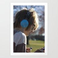 Verliebt mit Musik Art Print