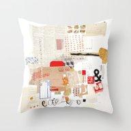 Throw Pillow featuring Flea Market by Emily Rickard