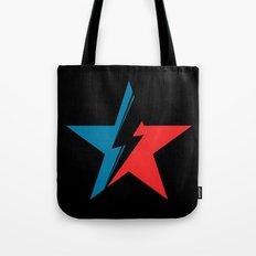 Bowie Star black Tote Bag
