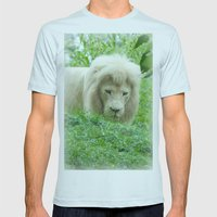 Lion Mens Fitted Tee Light Blue SMALL