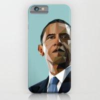 obama iPhone & iPod Cases featuring Geometric Obama by CheekyMonkeyArt