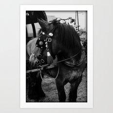 Dutch Drafter black & white Art Print